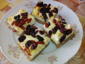 Tvarohový koláč s kustovnicí